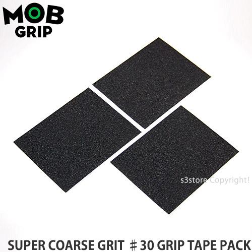 モブグリップ MOBGRIP スーパー コース グリット グリップ テープ パック SUPER COARSE GRIT ♯30 GRIP パンチング 新品■送料無料■ デッキテープ TAPE PACK スケートボード SKATEBOARD パーツ 3シート x ブランド買うならブランドオフ 3sheets サイズ:11