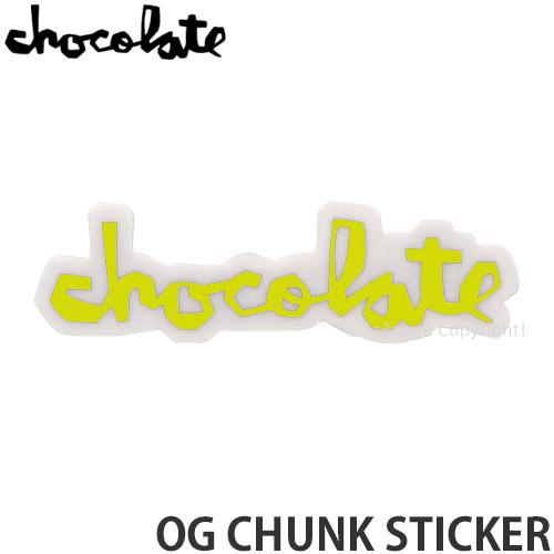 チョコレート CHOCOLATE オージー チャンク ステッカー OG 誕生日 お祝い CHUNK 信憑 STICKER スケートボード カスタム サイズ:3