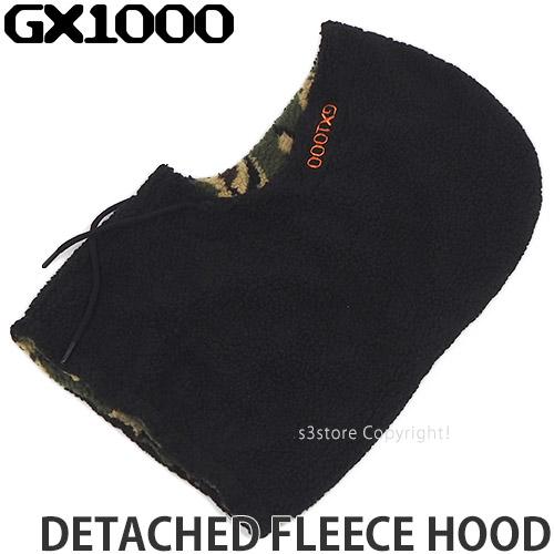 ジーエックスセン GX1000 デタッチ フリース フード DETACHED FLEECE HOOD 帽子 スケボー カラー:BLACK 小物 送料無料カード決済可能 お得なキャンペーンを実施中 ストリート スケートボード SKATEBOARD サイズ:OS