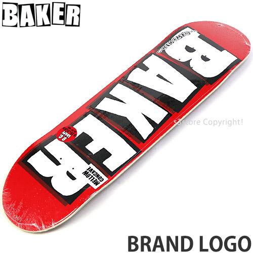 ベイカー BAKER ブランド ロゴ BRAND LOGO スケートボード スケボー デッキ 2020 新作 日本製 板 カラー:White プロ チーム パーク ストリート SKATEBOARD 初心者 サイズ:8.25×31.75