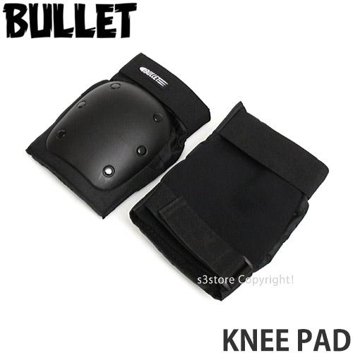 バレット 買取 即日出荷 BULLET ニー パッド KNEE PAD スケートボード プロテクター セーフティ サポート BMX SCOOTER SKATE キックボード ストリートスポーツ カラー:Black 膝