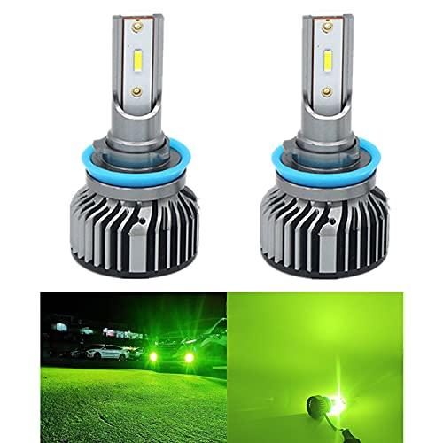LEDフォグランプ 8000LM お得セット ライムグリーン グリーンイエロー H3 H8 H11 HB3 HB4 グリーンレモン 期間限定特価品 4100K 2個セット H16
