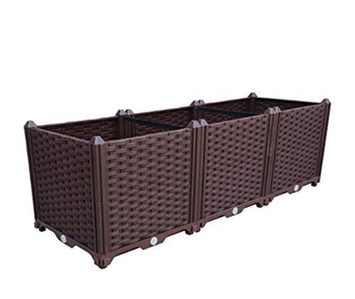 Aeon hum 組立式ガーデンボックス プランターボックス プラスチック 特価 園芸 鉢植え入れ 花 自由組立 ブラウ 植物 滑車付け 野菜栽培 直送商品