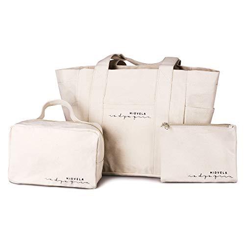 マザーズバッグ 3点セット コットン トートバッグ お着替え袋 引出物 コットンバッグ 通園バッグ おむつポーチ ママバッグ お着替えバッグ スーパーセール期間限定