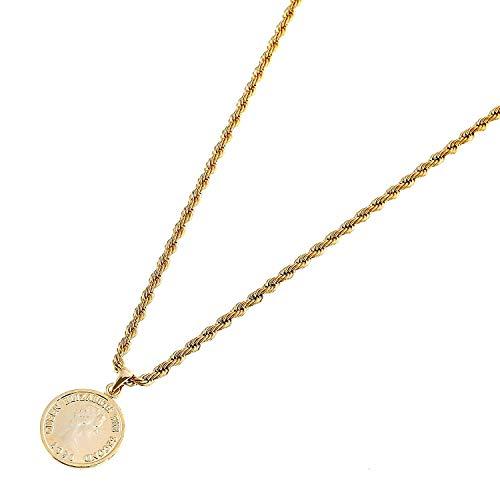 入浴時でも外すことなく使える コイン ネックレス 特価 SOPHIE エリザベス ゴールド 50cm ステンレス フレンチロープ 2mm 細め 期間限定特別価格 シルバー