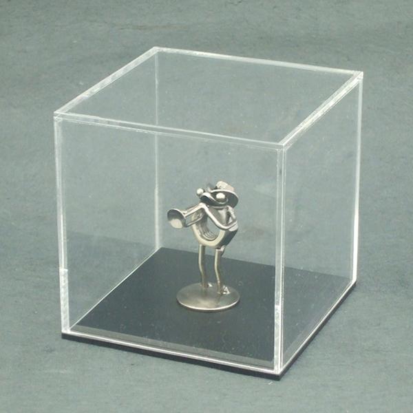 コレクションの展示に最適! アクリルケース 150mm×152mm×150mm 台座(黒)  コレクション 展示 カバー 販促品 ディスプレイ イベント用品
