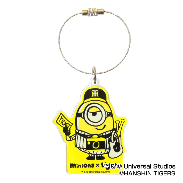 I have a cute Hanshin Tigers official recognition goods minion X Tigers  acrylic key ring Tigers minions