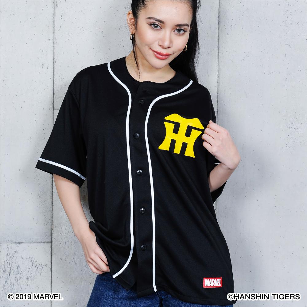 阪神タイガース公認グッズMARVEL/タイガース ベースボールシャツ マーベル TIGERS おしゃれ おすすめ 人気 野球 応援 グッズ