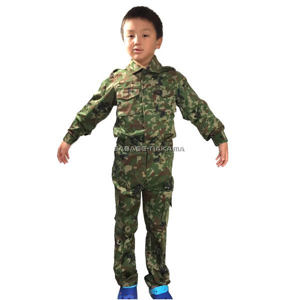 【元自衛隊員も絶賛 しっかり素材】BDU 自衛隊 迷彩服 キッズ 子供 サイズ 110 120 130 140 150 上下 セット BDU サバゲセット サバゲーセット