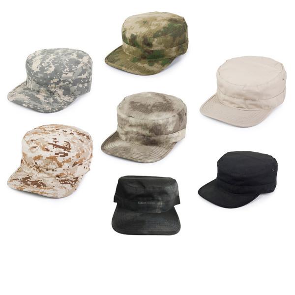 帽子 Broptical ミリタリーキャップ 迷彩柄 カモフラージュ サバゲー 装備 レディース BDU ブラウン 帽子 クリプテック A-TACS パトロールキャップ