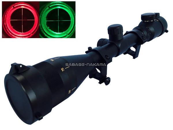 Broptical グレート対物 4-16x44AOE 4~16倍ズーム 44mmレンズ 光学 ライフルスコープ イルミネーション 赤/緑 シーグリーンコーティング 20mmレイル 対応 ハイマウントリング バトラーキャップ 付き スナイパー エアガン 4-16×44aoe