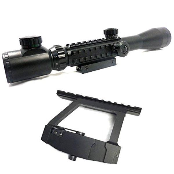 Broptical 2点セット c3-9x40EG 20mmレイル 対応 トリプルレール c3-9×40EG 40mmレンズ ライフルスコープ & AK 用 QDマウント マウントベース サイドレイル