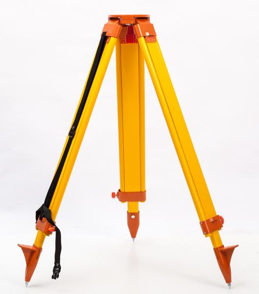 レーザー墨出し器 のお供 日本メーカー新品 軽量タイプの三脚です 測量用三脚 平面 黄 オレンジ カラー 脚太タイプ レーザー 当店限定販売 墨出し器 測量 など 三脚 木製