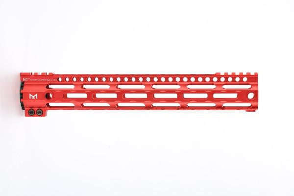 Broptical 超軽量 アルミ MIDWEST タイプ M-LOK 赤 ハンドガード 13inch RED RAS サバゲー ミリタリー パーツ 装備 メタリックレッド
