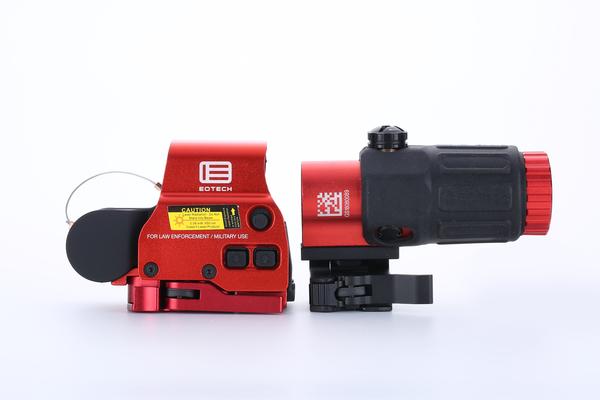 Broptical XPS3 タイプ ドットサイト / G33-STSタイプ 3倍ブースター セット RED 赤 マグニファイア QDレバー 20mmレイル対応 558