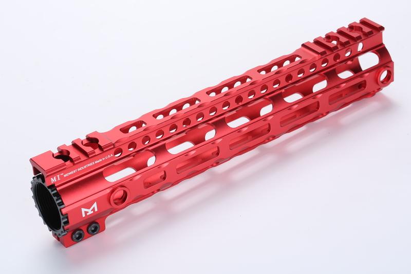 Broptical 超軽量 MIDWEST タイプ M-LOK ハンドガード 10inch メタリックレッド SR RAS サバゲー ミリタリー パーツ 装備 赤