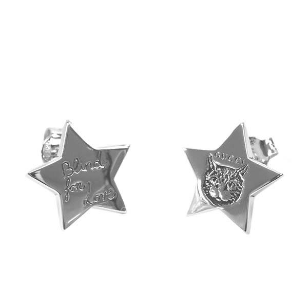 グッチ GUCCI / EARRINGS STERLING SILVER AURECO BLIND FOR LOV ピアス #YBD500007001