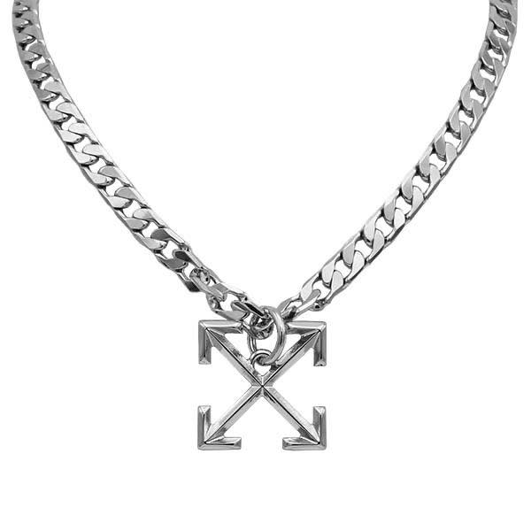 オフホワイト OFF-WHITE / ARROW NECKLACE SILVER SILVER ネックレス #OMOB032R20253023 9191 SILVER