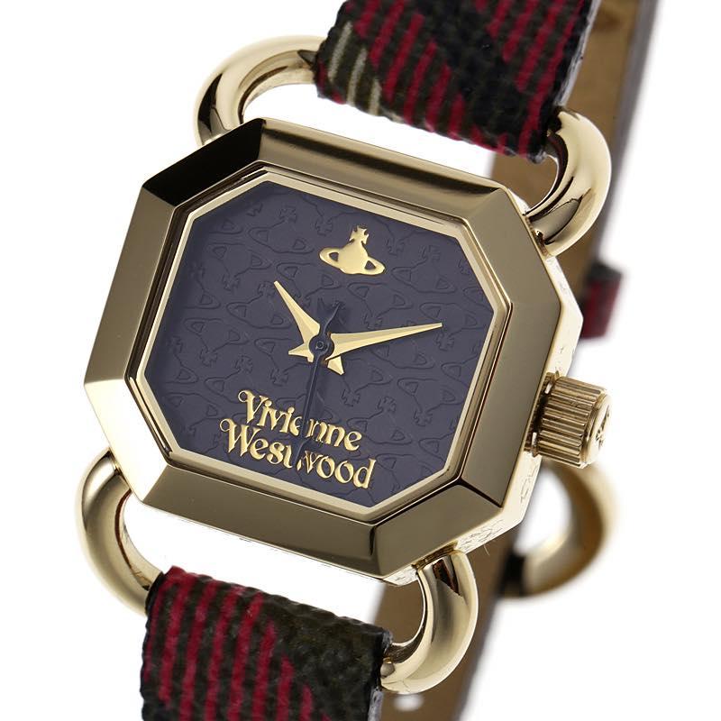 ヴィヴィアン・ウエストウッド VIVIENNE WESTWOOD / ravenscourt womens watch 腕時計 #VV085 BKBR ゴールド×チェック