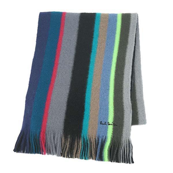 ポール・スミス PAUL SMITH / MIKE STRIPE SCARF マフラー #355E AS10 79 BK