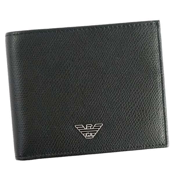 エンポリオアルマーニ EMPORIO ARMANI / WALLET 二つ折財布 小銭入付 #YEM122 YAQ2E 81072 BLACK