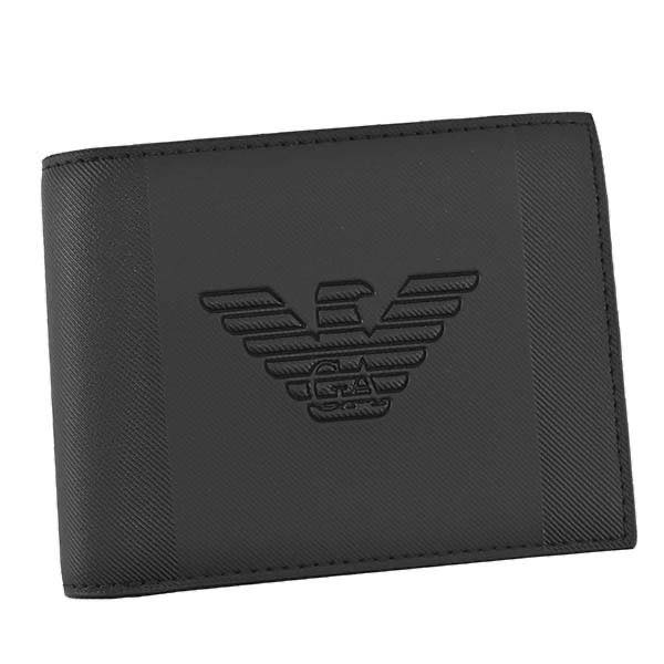 エンポリオアルマーニ EMPORIO ARMANI / BILFOLD WALLET WITH COIN PURSE 二つ折財布 小銭入付 #Y4R165 YFE6J 81072 BLACK