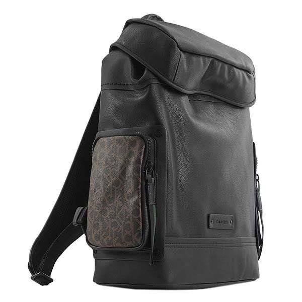 カルバン クライン Calvin Klein / MONO POCKET BACKPACK WITH FLAP MED バックパック #K50K503885 001 BLACK