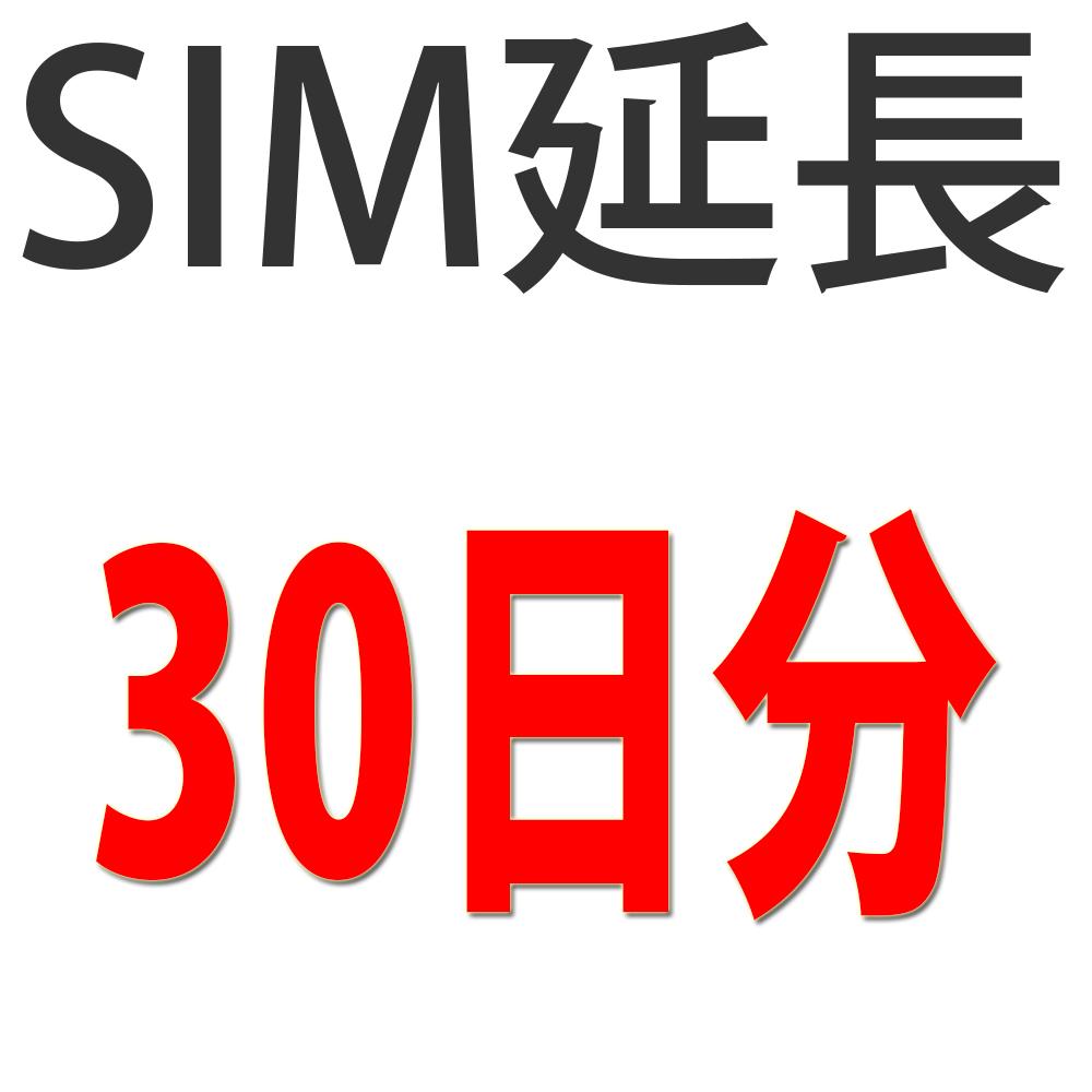 SIMセットプラン用期間延長チケット30日分