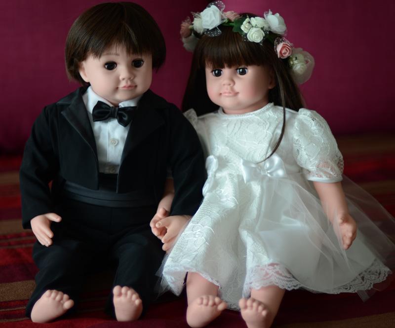 日本初の関西弁音声認識人形の「桃色はなこ」介護人形 着せ替え人形 女の子 ロボット 認知症予防 ドールセラピー 関西弁 ももいろはなこ おしゃべり 話す 歌う 人形♪ウエディングセット♪