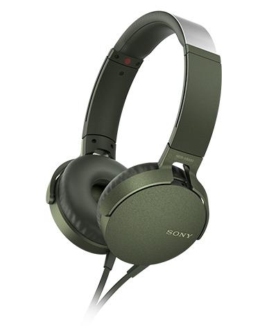 SONY ツーリストモデル ワイヤレスステレオヘッドセット グリーン MDR-XB550AP GCE