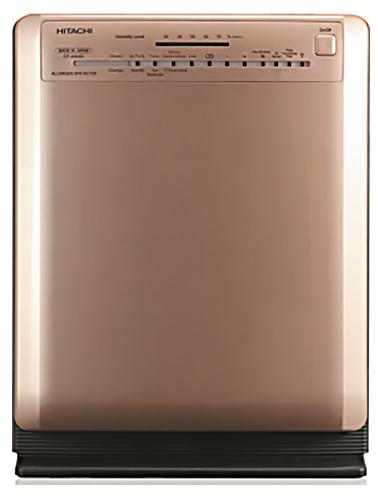 【海外向け家電】【220~240V仕様】 HITACHI 加湿空気清浄機 適床面積~33平方メートル PM2.5対応 シャンパンゴールド EP-A5000 CH