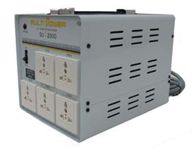 【変圧器】 スワロー電機 海外・国内兼用型トランス マルチトランス 定格容量2000VA 変換電圧100~240V SU-2000