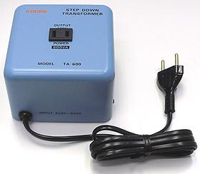 海外用 変圧器 東京興電 海外用変圧器 ステップダウントランス 定格容量600W 変換電圧220-240V→100V TA-600