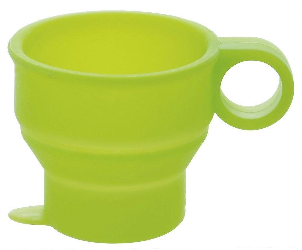 耐熱230℃ 内祝い 電子レンジ 食洗機対応 割れないシリコン製ミニコップ gowell 直営店 グリーン たためるミニコップ トラベルグッズ