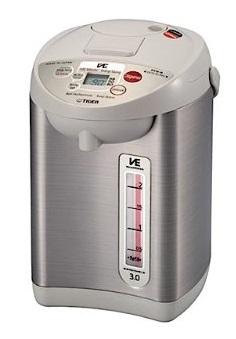海外向け家電 220V仕様 タイガー魔法瓶 VE電気ポット 電動&エアー給湯 容量3リットル PVW-B30W