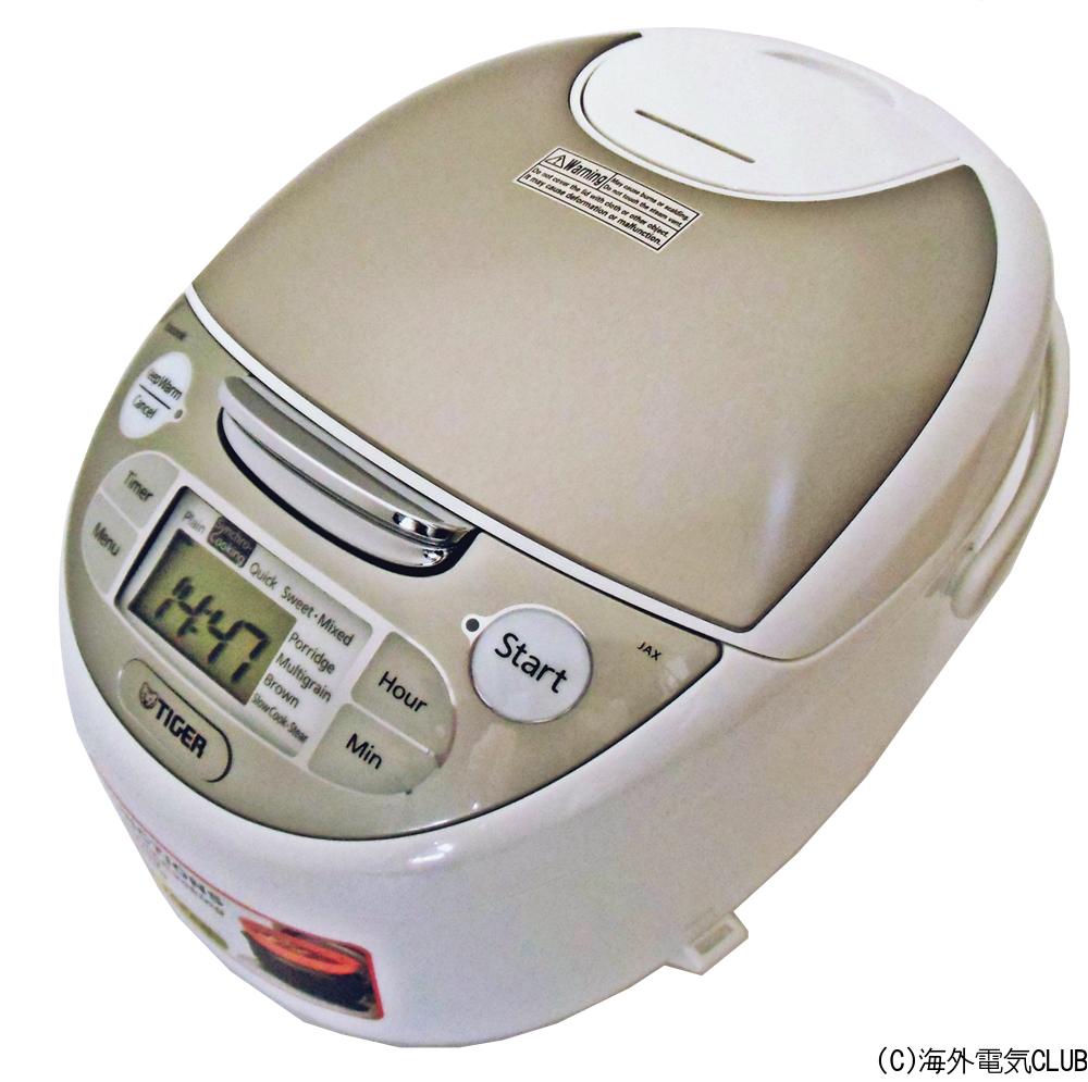 海外向け炊飯器 230~240V仕様 タイガー魔法瓶 マイコン炊飯ジャー 5.5合炊き ホワイト JAX-S10A WZ