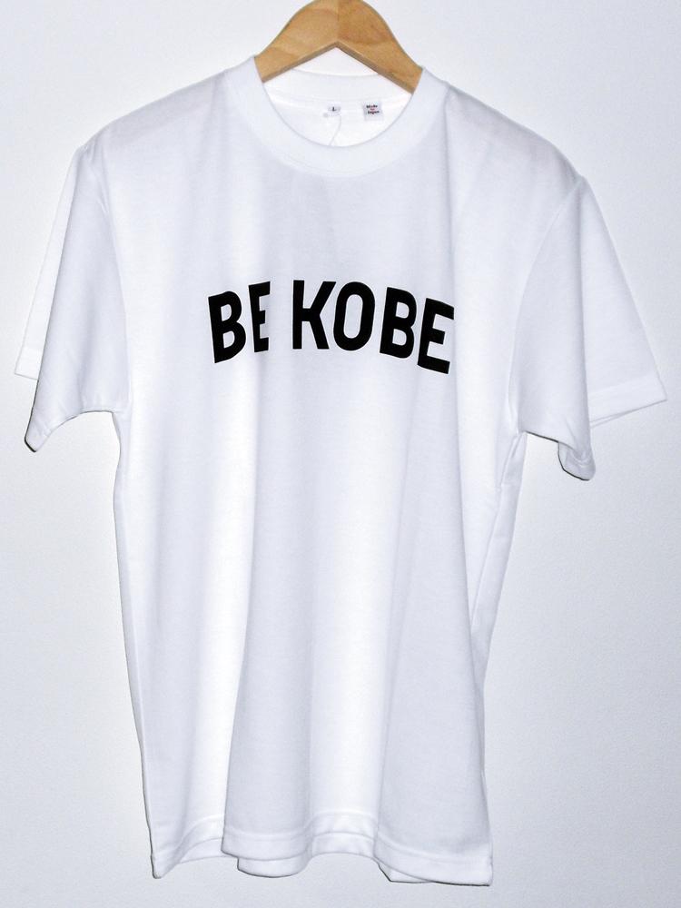 神戸みやげの定番 ※アウトレット品 外国のお客様に大人気です 免税店コウベサコムオリジナル BE 営業 KOBE 日本製 Tシャツ ホワイト 3Lサイズ