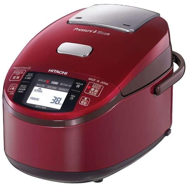 【訳あり】【アウトレット】【海外向けIH炊飯器】【220~230V仕様】 HITACHI 《蒸気カット 極上炊き》 圧力&スチームIH炊飯ジャー 5.5合炊き レッド RZ-KV100Y-R