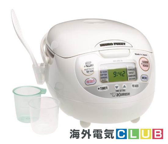 海外向け炊飯器 120V仕様 象印マホービン マイコン炊飯器 5.5合炊き プレミアムホワイト NS-ZCC10
