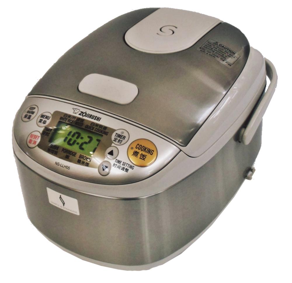 海外向け炊飯器 220~230V仕様 象印マホービン マイコン炊飯器 3合炊き ステンレスカラー NS-LLH05