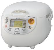 海外向け炊飯器 220~230V仕様 象印マホービン マイコン炊飯ジャー 5.5合炊き プレミアムホワイト NS-ZLH10-WZ