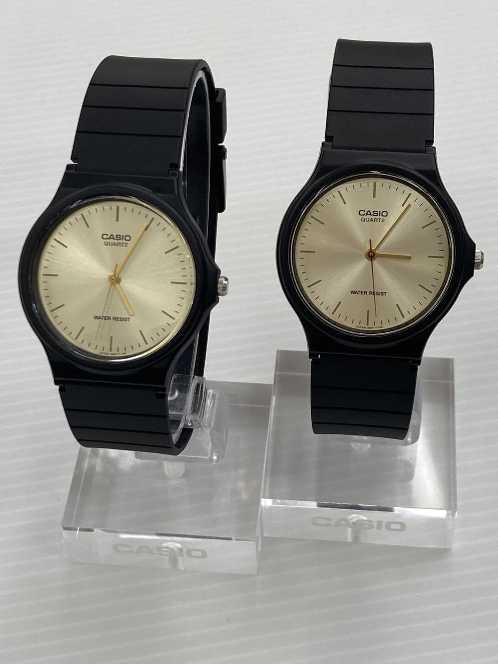 チープカシオシリーズ人気モデルペア2本セット メール便対象商品 CASIO 国内正規品 腕時計 ペア 定番モデル MQ-24-9ELJF キャンペーンもお見逃しなく 2本セット