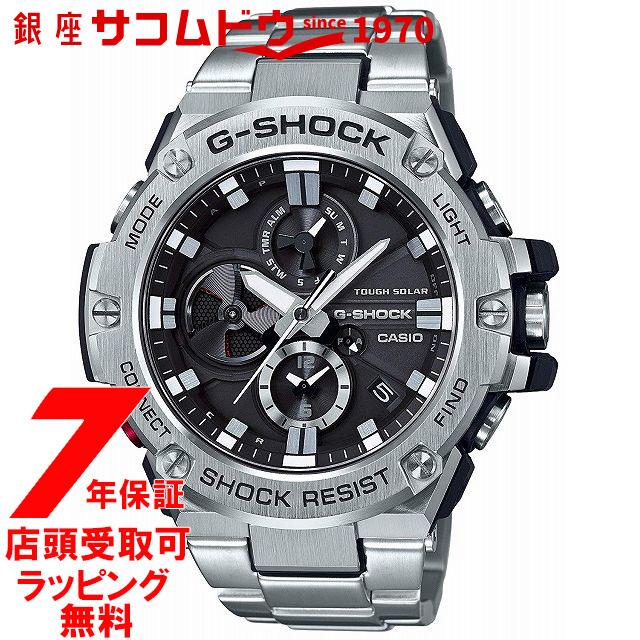 【店頭受取対応商品】[7年延長保証] [カシオ]CASIO 腕時計 G-SHOCK ウォッチ ジーショック G-STEEL スマートフォンリンクモデル GST-B100D-1AJF メンズ