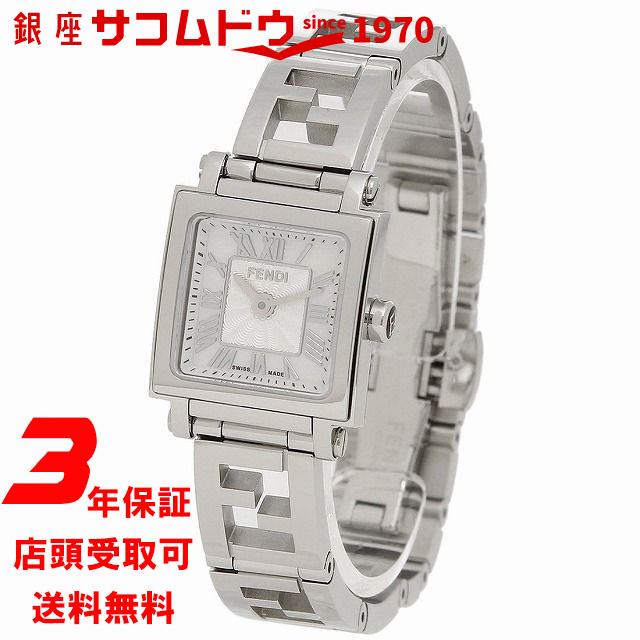 【店頭受取対応商品】[フェンディ] クアドロ ミニ 20mm レディース 腕時計 F605024500 FENDI ホワイトシェル