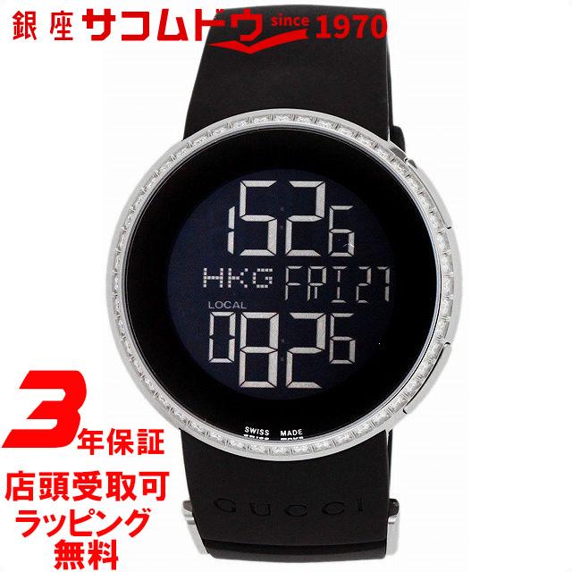 【店頭受取対応商品】[3年保証][グッチ]GUCCI 腕時計 Iグッチ ブラック文字盤 YA114402 レディース [並行輸入品]