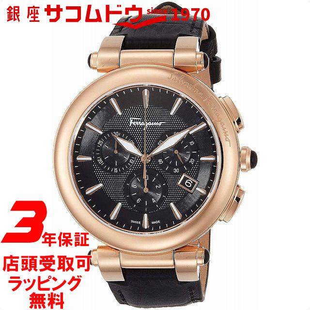 【店頭受取対応商品】[フェラガモ]Ferragamo 腕時計 イディリオ ブラック文字盤 FCP060017 メンズ 【並行輸入品】