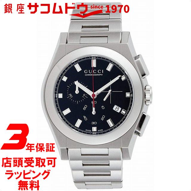 【店頭受取対応商品】[3年保証]GUCCI グッチ 腕時計 ウォッチ パンテオン ブラック文字盤 クロノグラフ デイト YA115235 メンズ [並行輸入品]