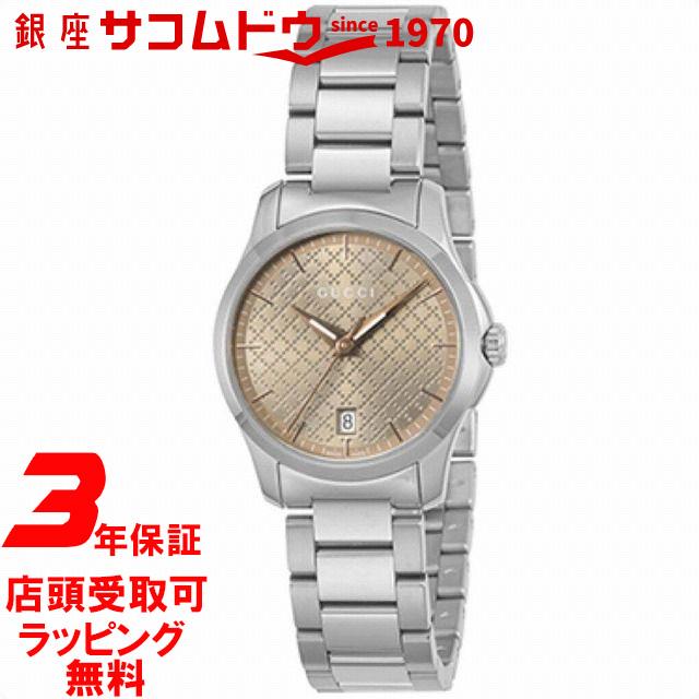 【店頭受取対応商品】グッチ 時計 レディース GUCCI 腕時計 Gタイムレス 28mm YA126594 ブラウン