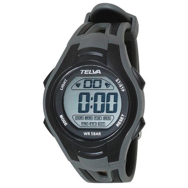 4a16672c2a CREPHA クレファー TELVA テルバ デジタル 腕時計 ストップウォッチ機能付き TE-D051-BK ブラック