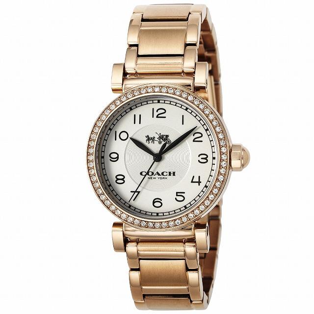 49dbe4b48024 [3年保証]COACHコーチ腕時計ウォッチ14502398MADISONマディソン腕時計ウォッチローズゴールド/